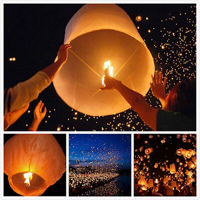 New Chinese Paper Lanterns Flying Sky Floating Wishing Lamp for Wedding Party AU