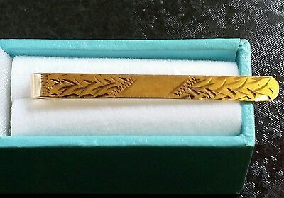 Vintage Fully Hallmarked 9Ct Gold Tie Clip Slide Bar 9K