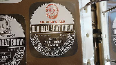 Old Australian Beer Label, Old Ballarat Brewery, Archers Ale