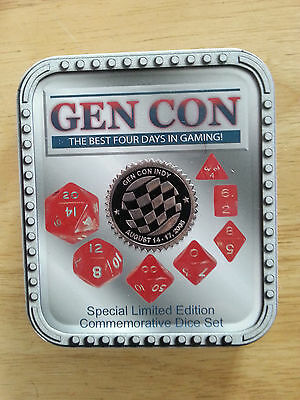 gen con 2008 ltd ed 2008 dice set in tin