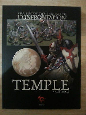confrontation, temple army book, mint condition.