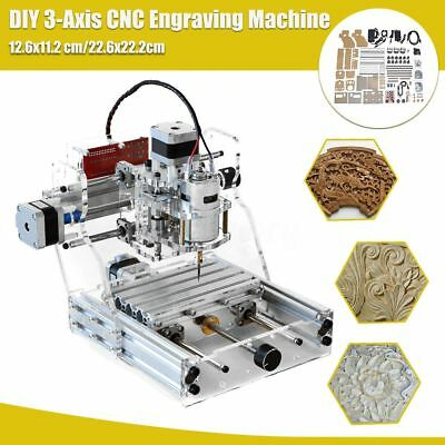 2-Size 3 Axis CNC Engraver Router Engraving Metal Milling Machine Wood Cutter