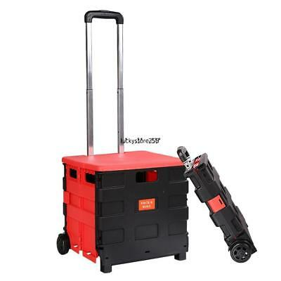 Folding Hand Truck and dolly heavy duty Cart Personal 170 lb Capacity Steel LY