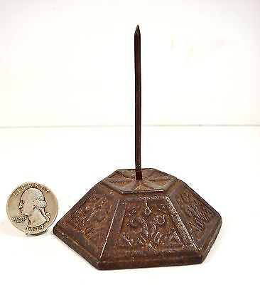 Antique Cast Iron Counter Top BILL SPIKE Receipt Holder country store