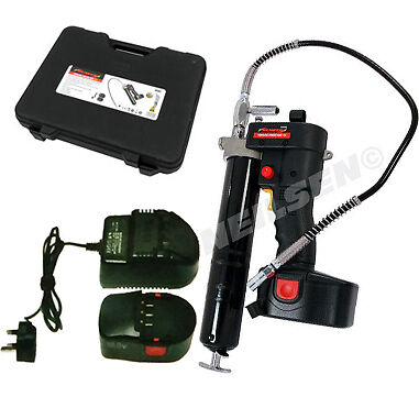 Professional Cordless 18 V Grease Gun 1hr Fast Charge 2 X Batteries 8000 Psi New