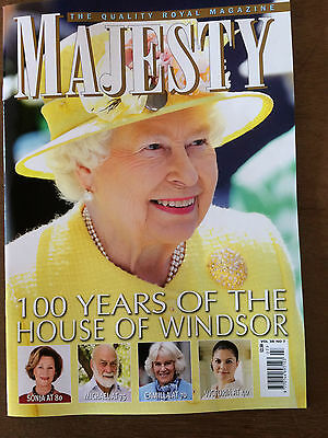 Majesty The Quality Royal Magazine! Vol38No7- 100 Years Of The House Of Windsor!