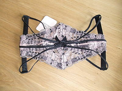 Agent Provocateur Rare Pink & Black Caitlin Size 1 X Small Uk 6-8 Bnwt