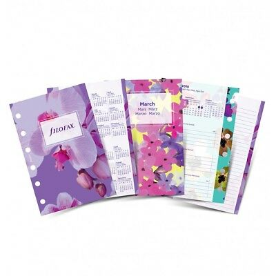 Filofax- Pocket Week on 2 Pages Illustrated Floral Diary Pack 2018