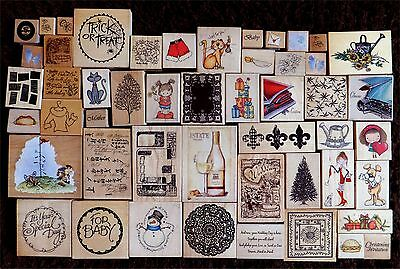 Wooden Rubber Stamps - Job Lot