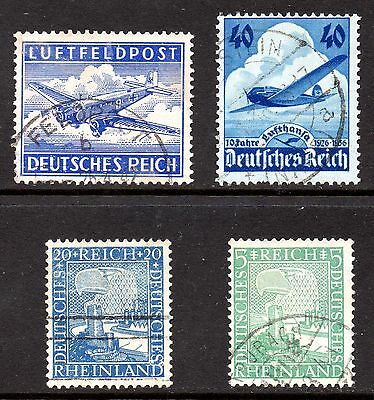 GERMAN 3rd REICH.  4 X 3rd REICH MIXED STAMPS. VF USED.  #B0072