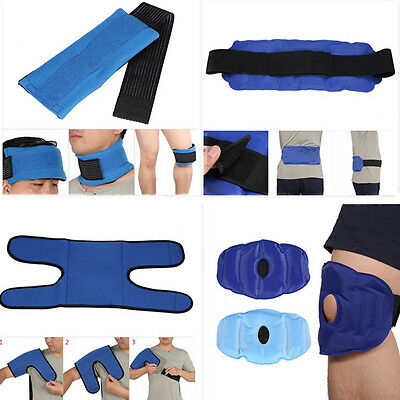 Useful Nylon Ice Hot/Cold Therapy Gel Pack Wrap For Sports Pain Relief CO