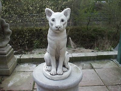 Large Siamese  Cat Cats Stone Garden Sculpture Statue