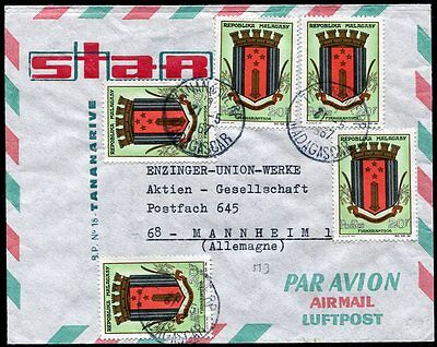 Madagascar 1967 airmail cover Tananarive RP -Germany