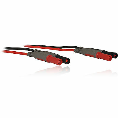 1.2m Red & Black Bare MultiMeter Test Leads/ Cables/ Wires M-M Male to Male