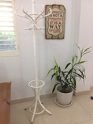 Brand New in Box French Provincial Shabby Chic 12 Hook White Hat Coat Rack Stand