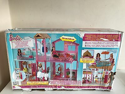 Barbie 3 Story Townhouse With Accessories Dolls House New Box Damaged