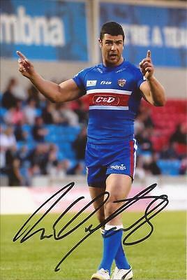 Wakefield Trinity Rugby League * Ritchie Mathers Signed 6X4 Action Photo+Coa