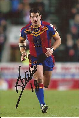 Catalans Dragons Rugby League * Benjamin Garcia Signed 6X4 Action Photo+Coa