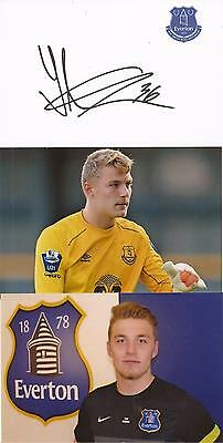 Everton * Jindrich Stanek Signed 6X4 Crsted Whte Card+2 Free Unsigned Photos+Coa