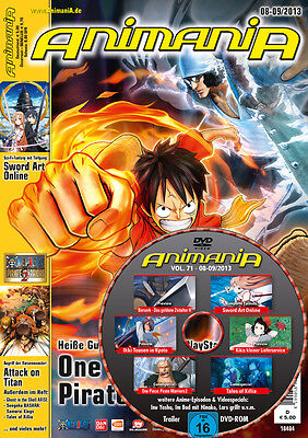 ANIMANIA * Ausgabe 08-09/2013 mit DVD * August September 2013 * neu