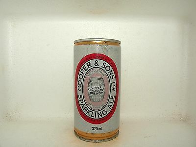 COOPERS SPARKLING ALE 370ml CRIPMED STEEL EMPTY BEER CAN
