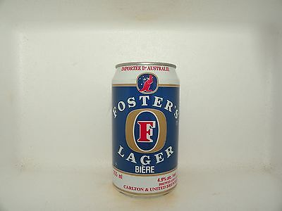 FOSTERS LAGER BIERE 355ml EMPTY BEER CAN CANADA