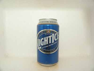 Fosters Light Ice Empty Beer Can Blue