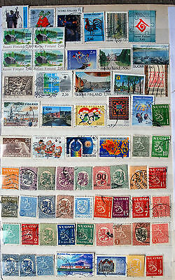 Fine Collection of Different Used Finland Stamps.