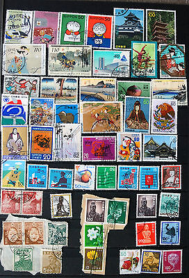 Great Collection of Different Used Japanese Stamps.