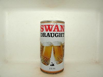 SWAN DRAUGHT 370ml CRIPMED STEEL EMPTY BEER CAN