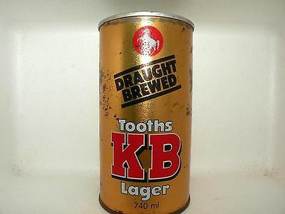 TOOTHS KB LAGER 740ml STRAIGHT STEEL EMPTY BEER CAN