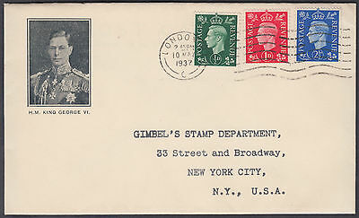 1937 KGVI Definitives scarce design Illustrated FDC; London NW1 M/C