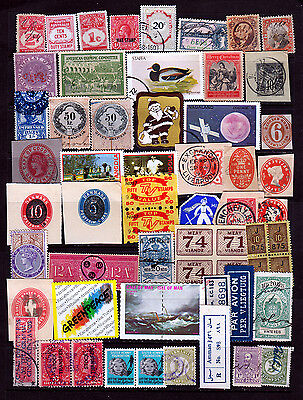 Worldwide Cinderellas Labels Revenues Stickers Odd Ball Items..Unusual... #691P1