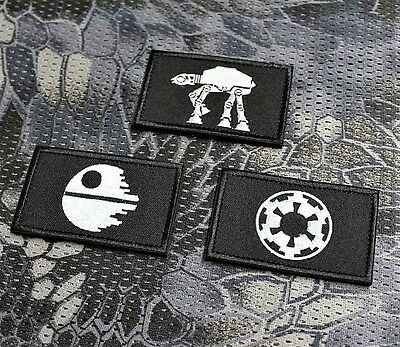 3x Morale Patch Aufnäher Airsoft Paintball Morale Patch Aufnäher EDC Star Wars