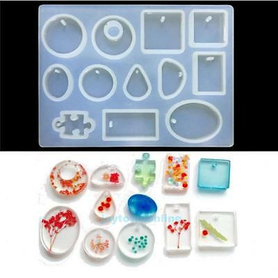 Crystal Silicone Mold Necklace Pendant Resin Jewelry Making Mould DIY Craft Tool
