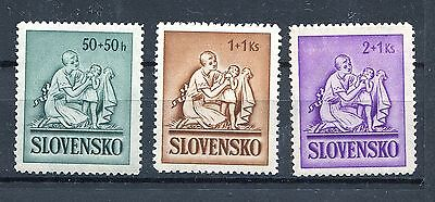 Slovakia Ww2 German Puppet State 1941 Scott B5-B7 Perfect Mnh