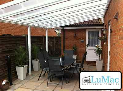 Fixed garden Canopy Waterproof patio cover shelter Lean to Pergola awning.