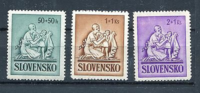 Slovakia Ww2 German Puppet State 1941 Scott B5-B7 Mnh With Some Gum Issues