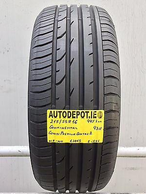 215/55R16 CONTINENTAL PREMIUM CONTACT 2 93H Part worn tyre (C1065) AS NEW