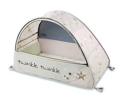 Koo-Di Sun & Sleep Pop-Up Baby Bubble Travel Cot, 'Twinkle Twinkle' Star Design