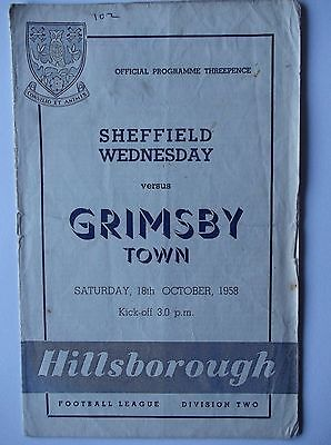 1958-59   Sheffield Wednesday  v  Grimsby Town  Division 2