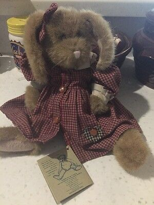 Boyds Bears Plush Sophie Bunny With Red Gingham Dress
