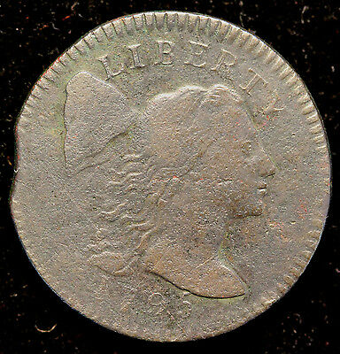 1795 S-77 Large Cent with Clipped Planchet
