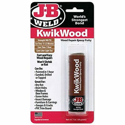 J-B Weld 8257 KwikWood Wood Repair Epoxy Putty Stick - 1 oz.