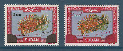 Sudan - 2008 - RARE - ( Pterois volitans - Surcharged in Red & Black ) - MNH**