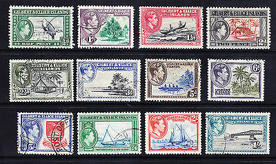GILBERT & ELLICE ISLANDS George VI SG43/54 set of 12 fine used. Catalogue £45