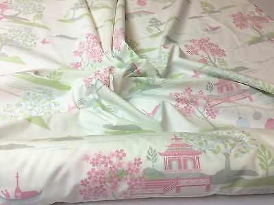 Japanese Theme 100% Cotton Poplin Fabric : 150Cm Wide :  Selling By 1/2 Mtr  :