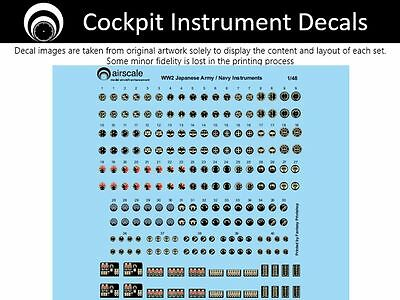 airscale Japanese Instrument Dial decals - 1/48 scale AS48 JPN