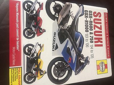 Suzuki Gsxr 1000 K5/k6 Haynes Workshop Manual