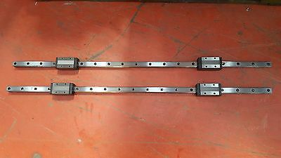 LINEAR RAIL L=111cm W=25cm H=20cm W/ (X2) THK SHS25 GUIDE BLOCKS (TROLLEY)
